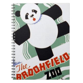 Brookfield Zoo Panda Vintage WPA Spiral Notebook