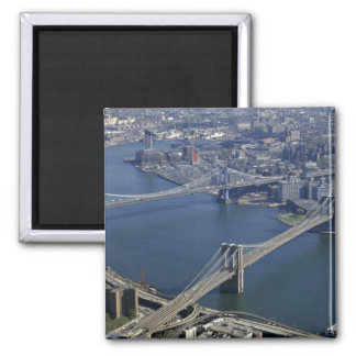 Brooklyn and Manhattan from the air, New York, USA Magnet