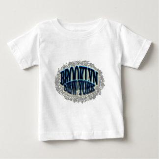 Brooklyn Blue NY Black - Pop-out Baby T-Shirt