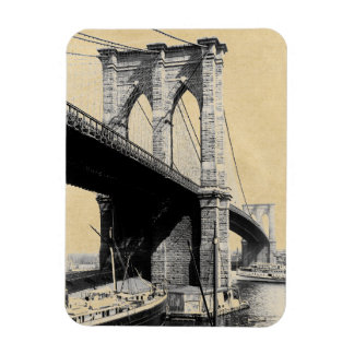Brooklyn Bridge Ferry Boats 1896 Magnet