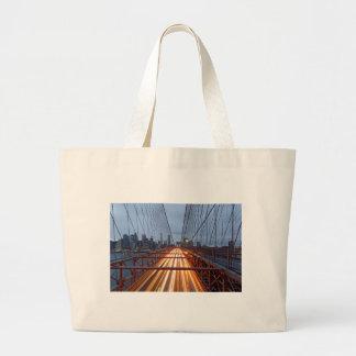 Brooklyn Bridge in the evening Large Tote Bag