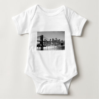 Brooklyn Bridge New York City Baby Bodysuit
