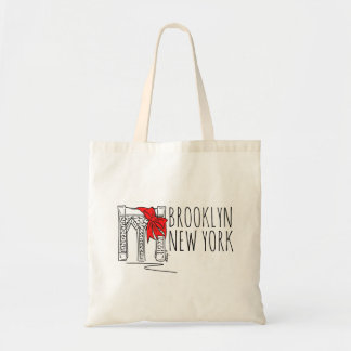 Brooklyn Bridge New York City NYC Red Holiday Tote