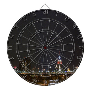 Brooklyn Bridge & New York City Skyline Dartboard