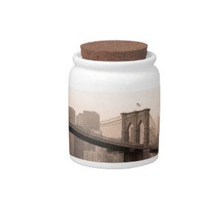 Brooklyn Bridge New York Candy Jar