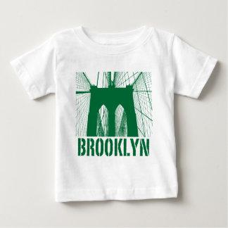 Brooklyn Bridge silhouette green Baby T-Shirt