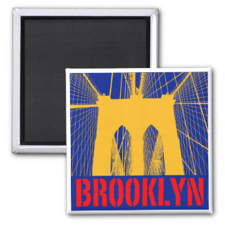 Brooklyn Bridge silhouette Magnet