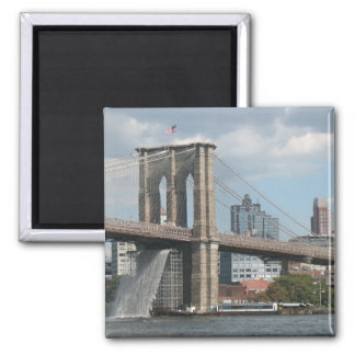 Brooklyn Bridge Waterfall Magnet