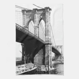 Brooklyn Bridge waterfront Towels