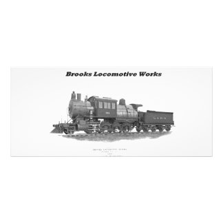 Brooks Camelback Locomotive, Long Island Railroad Full Color Rack Card