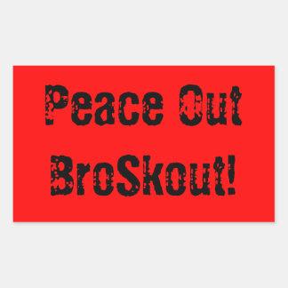 BroSkout Signature Quote Rectangular Stickers