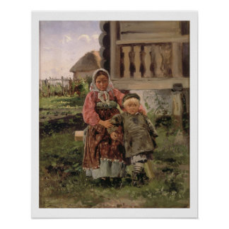 Brother and Sister, 1880 Poster