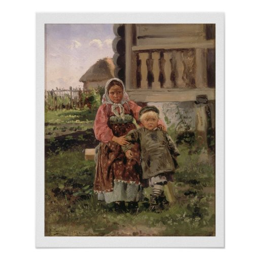 Brother and Sister, 1880 Posters