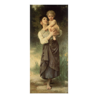 Brother and Sister, Bouguereau, Vintage Victorian Poster