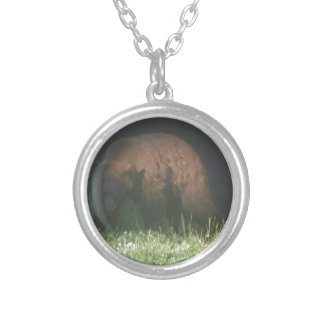 Brother Bear Round Pendant Necklace