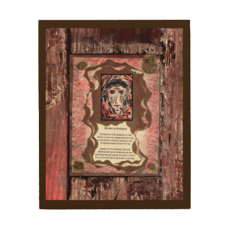 Brother of Confusion Wood Canvas
