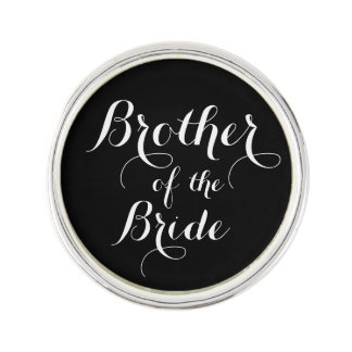 Brother of the Bride Calligraphy Lapel Pin