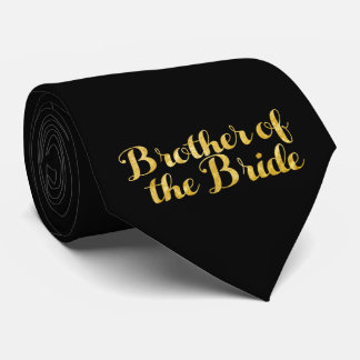 Brother of the bride gold tie