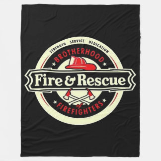 Brotherhood Firefighters Fleece Blanket