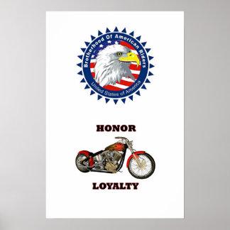 Brotherhood, Honor and Loyalty Poster