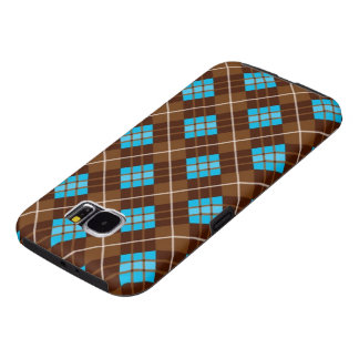 Brown and Blue Professional Plaid Samsung Galaxy S6 Cases