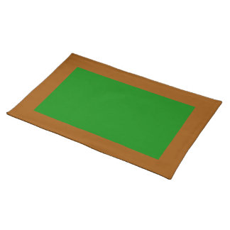 Brown and Green Placemat