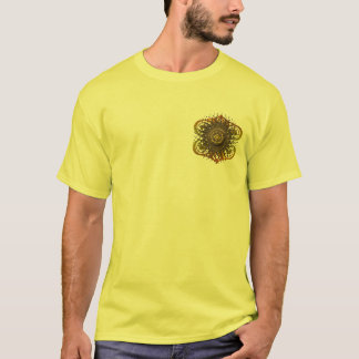 Brown and orange abstract design T-Shirt