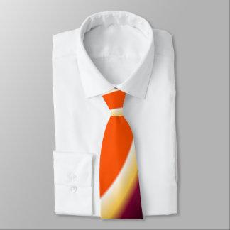 Brown and Orange Curved Design Neck Tie