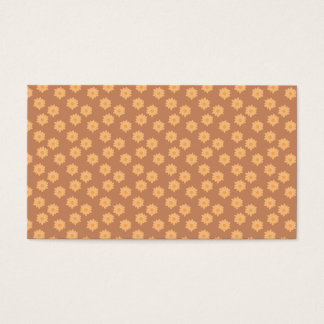 Brown and Orange Floral Pattern. Business Card