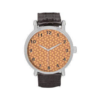 Brown and Orange Floral Pattern. Watch