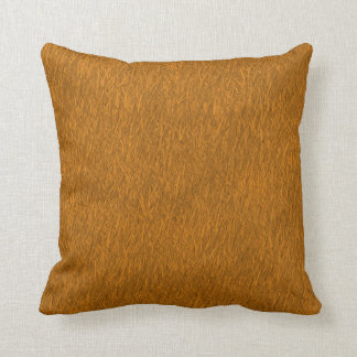 Brown and orange gradient painting pillow cushions