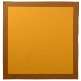 Brown and Orange Napkins