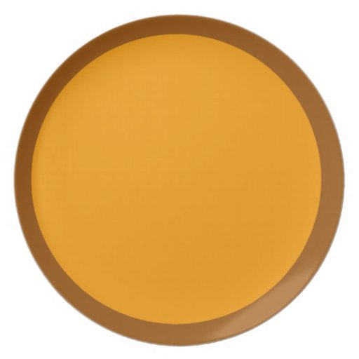 Brown and Orange Plate