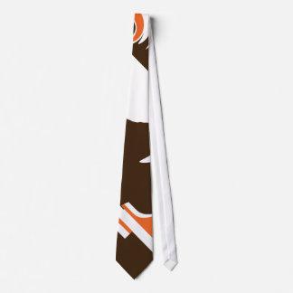 Brown and Orange Sabertooth Tie