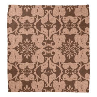 Brown And Peach Pattern Bandanna