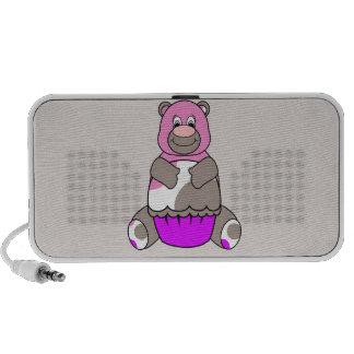 Brown And Pink Polkadot Bear Speaker