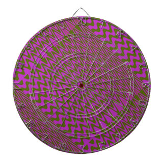 Brown and Pink Wave Pattern Dartboard