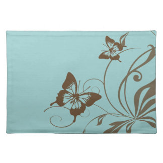 Brown and Teal Butterfly Placemat