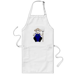 Brown And White Farmer Cow Apron