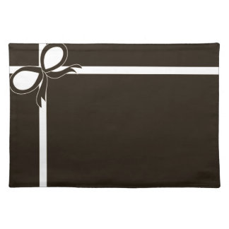 Brown and White Placemat