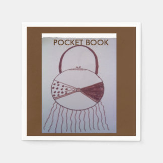 Brown and white Pocket book design napkin Disposable Napkin
