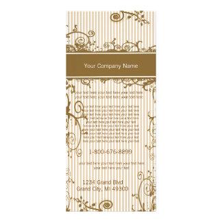 Brown and White Swirled Striped Rack Card