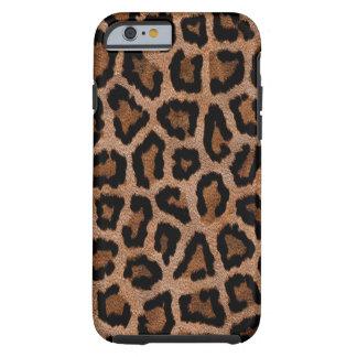 Brown animal print pattern tough iPhone 6 case