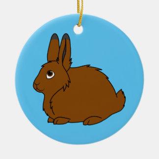 Brown Arctic Hare Christmas Ornament