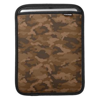 Brown Army Military Camo Camouflage Pattern Fabric iPad Sleeve