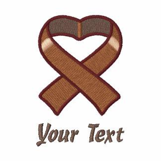 Brown Awareness Ribbon Shirt Embroidered Shirts