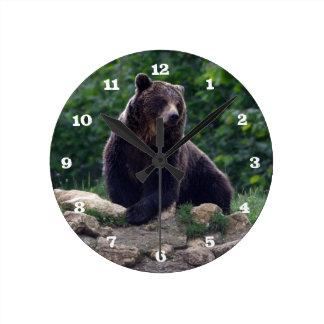 Brown bear clock