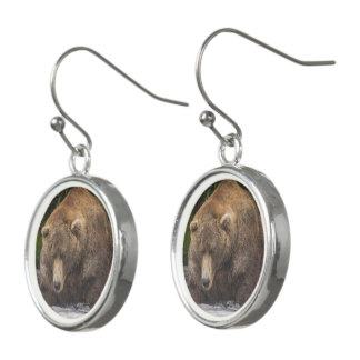 Brown Bear Earrings