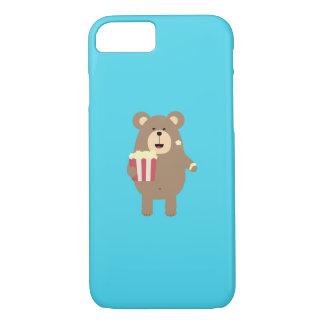 Brown Bear eating popcorn Q1Q iPhone 8/7 Case