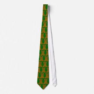 Brown Bear Tiled Tie